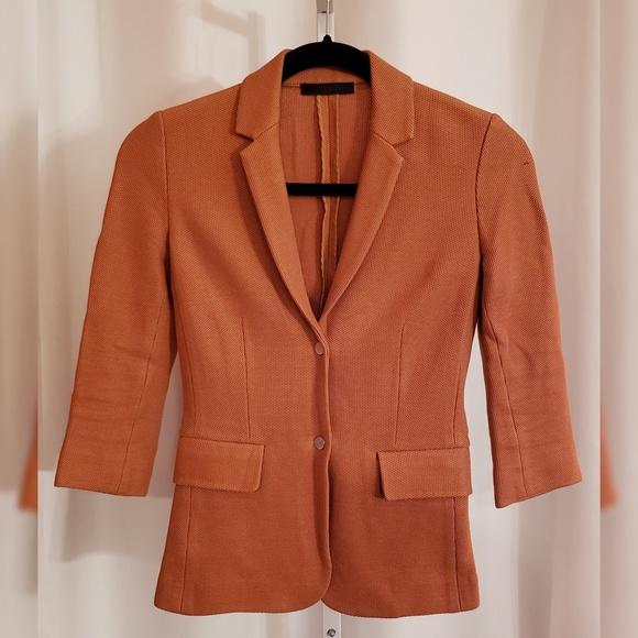 The Row Jackets & Blazers - The Row Orange Knit Notched Lapel Blazer sz 2